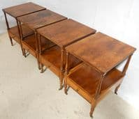Set of Four Yew Lamp Tables in the Georgian Style by Mines of Downley